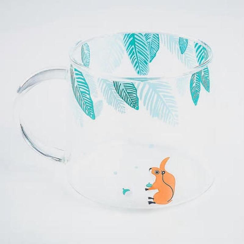 新品送料込 コップ 耐熱ガラス マグカップ グラス アニマル柄 お茶会・女子会に おしゃれ食器 贈り物