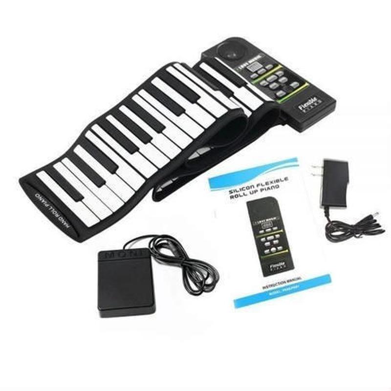 88鍵盤 キーボード ハンドロールピアノ 電子ピアノ ピアノ 軽量 くるくる巻いてコンパクトに収納!USB MIDI 電子キーボード