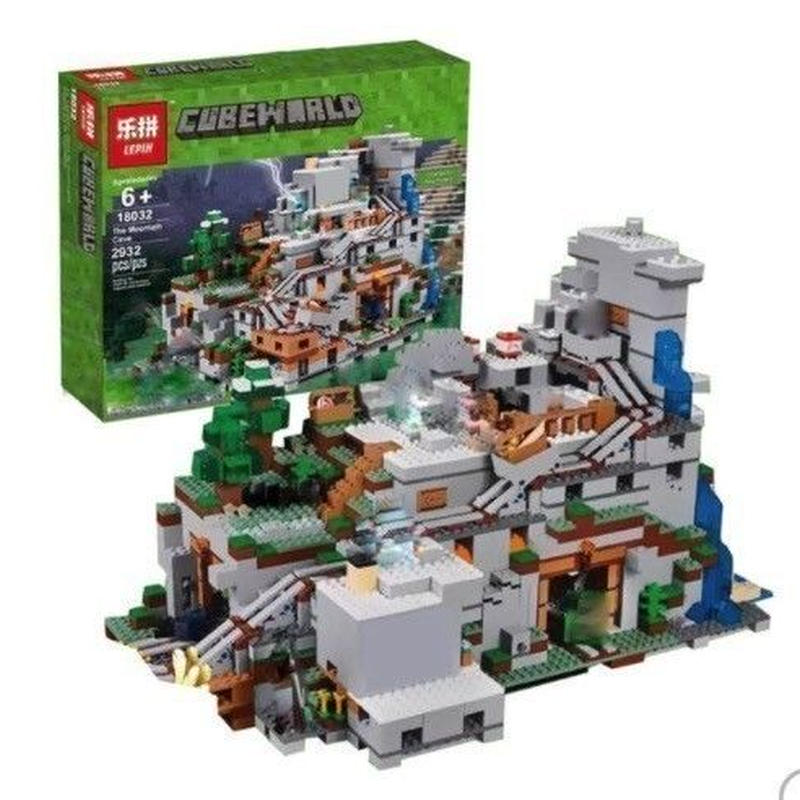 LEPIN レゴ互換 マインクラフト 山の洞窟 21137相当 2932ピース ブロックおもちゃ