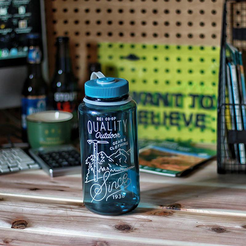 REI  Nalgene '40s logo Wide  Water Bottle
