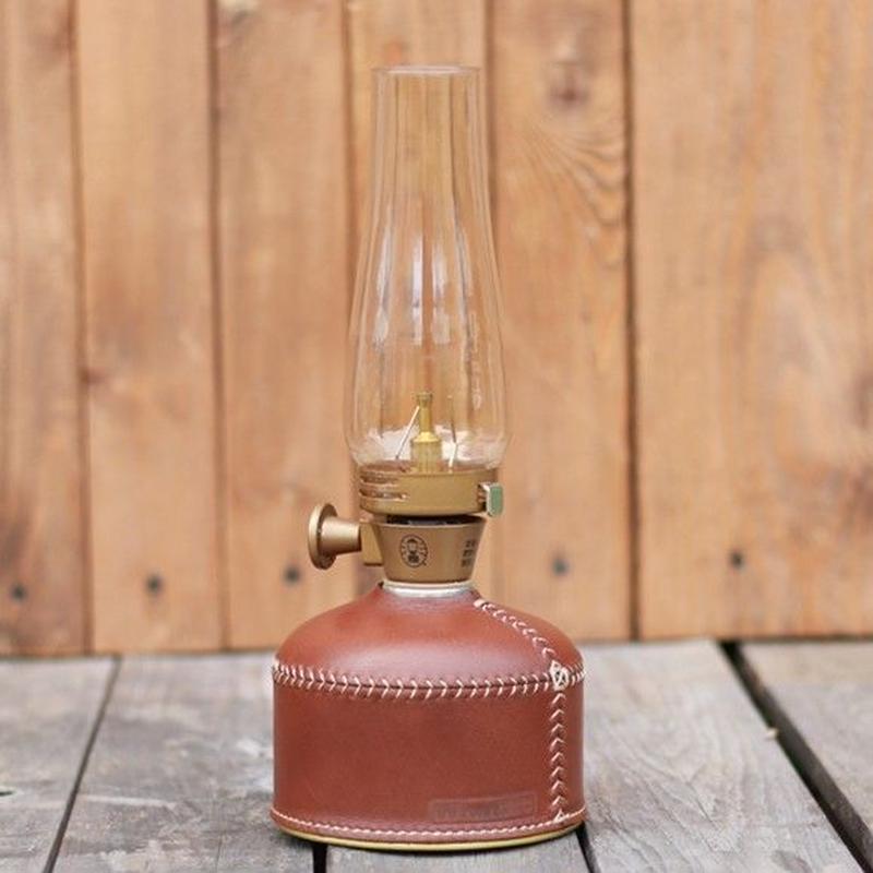 【受注生産】What Will be Will Be /レザー ODガス缶カバー vntage brown(中:230/250サイズ)