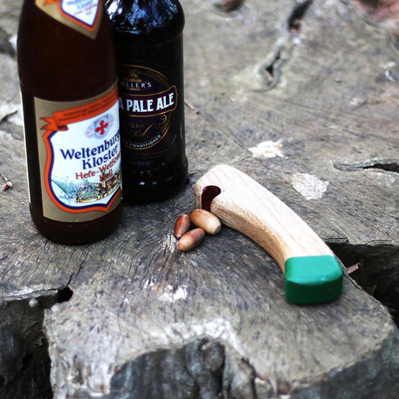 Axe handle Bottle Opener Green by Echtra