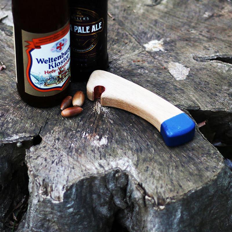 Axe handle Bottle Opener Blue by Echtra