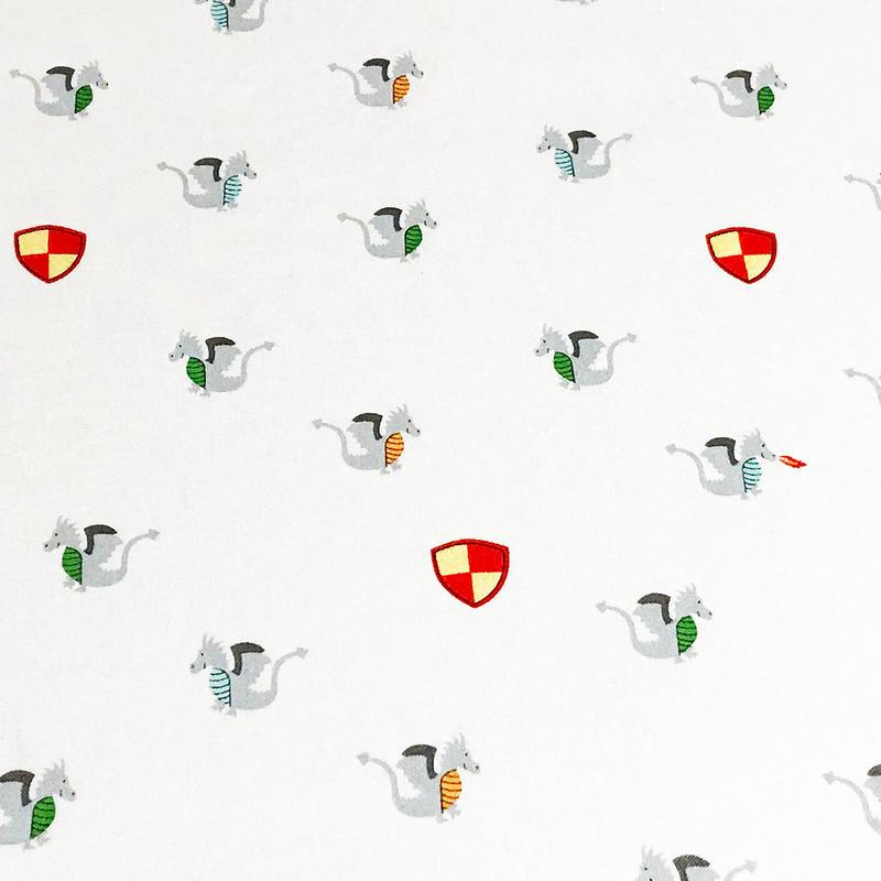 小さなドラゴン/White    ※15cm x 15cm