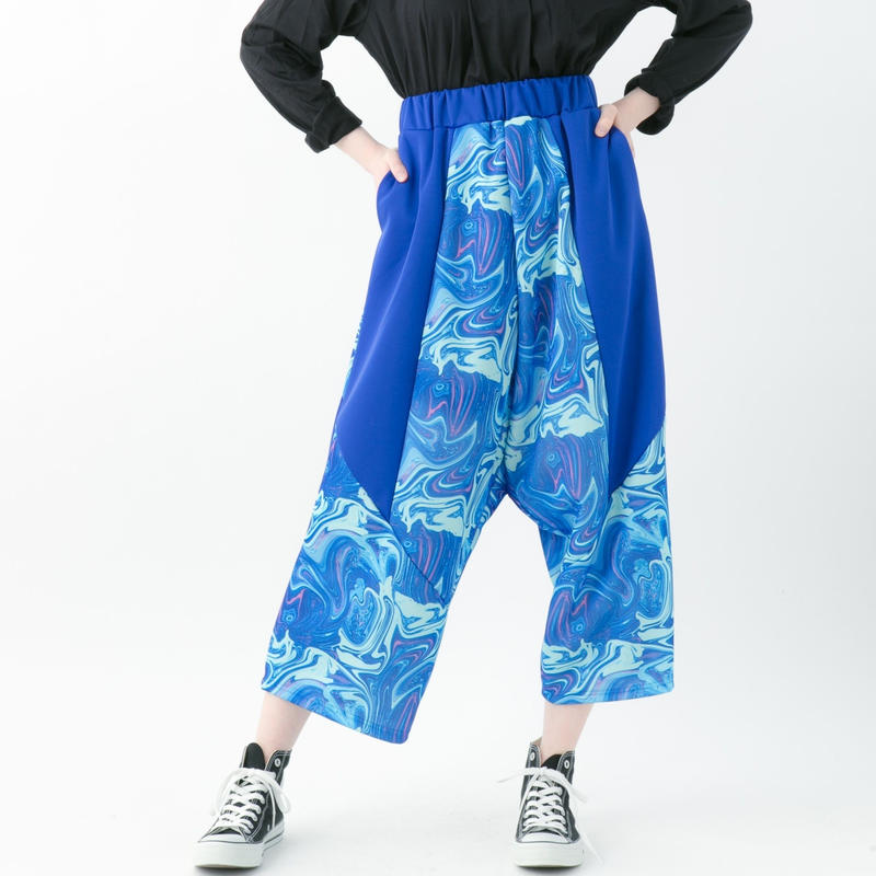 【19-20A/W 受注予約商品】Marble pants (RED , BLUE , BLACK)