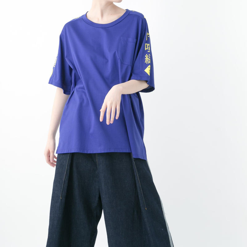 Mojibake T-shirt (WHITE×BLACK , BLUE×YELLOW , BLACK×GREEN , BLACK×BLACK)