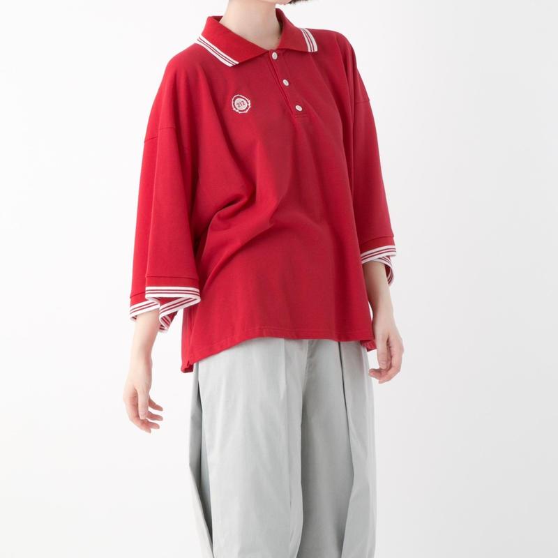 キモノポロシャツ (RED , WHITE , BLACK)