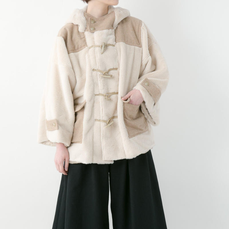 【19-20A/W 受注予約商品】Duffle fur coat (WHITE , PINK , NAVY)