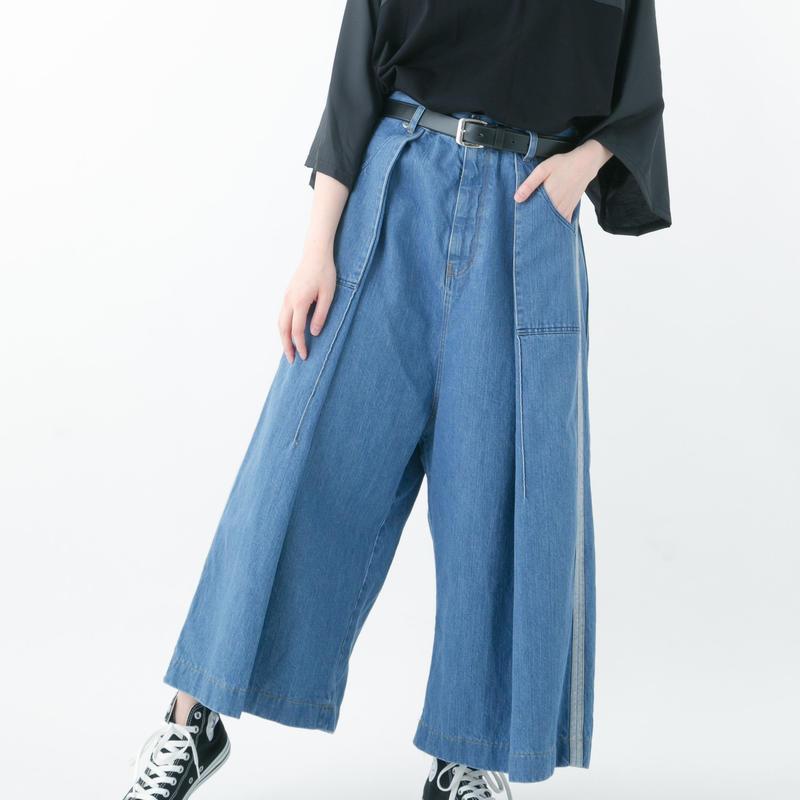 Side Line Denim Pants (BLUE , INDIGO)