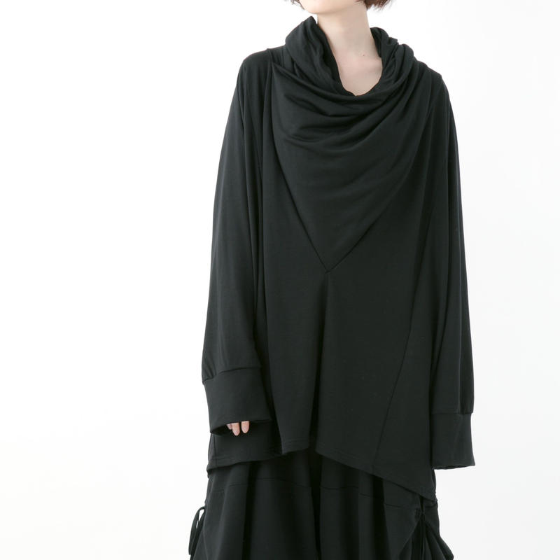 【19-20A/W 受注予約商品】《BLACK by -niitu-》Cross neck P/O