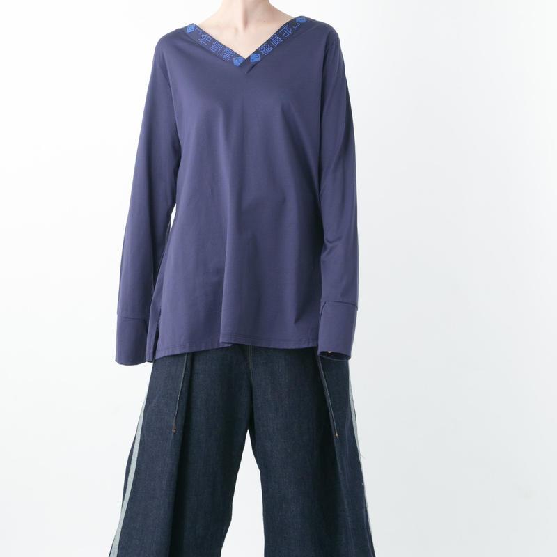 Mojibake L/S T-shirt (NAVY , BLACK)