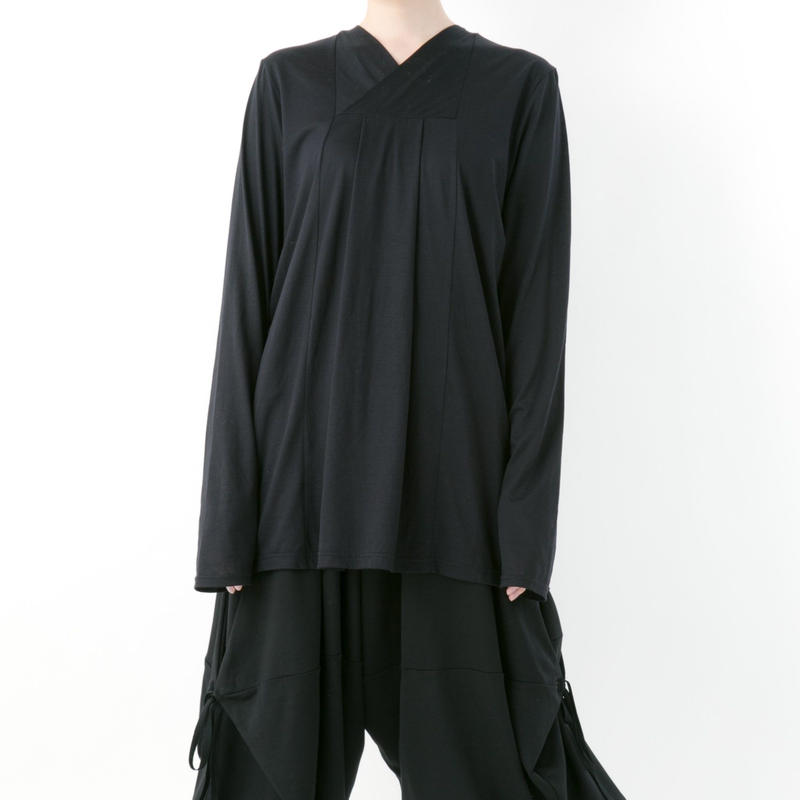 【19-20A/W 受注予約商品】《BLACK by -niitu-》Long sleeve cutsew (BLACK)
