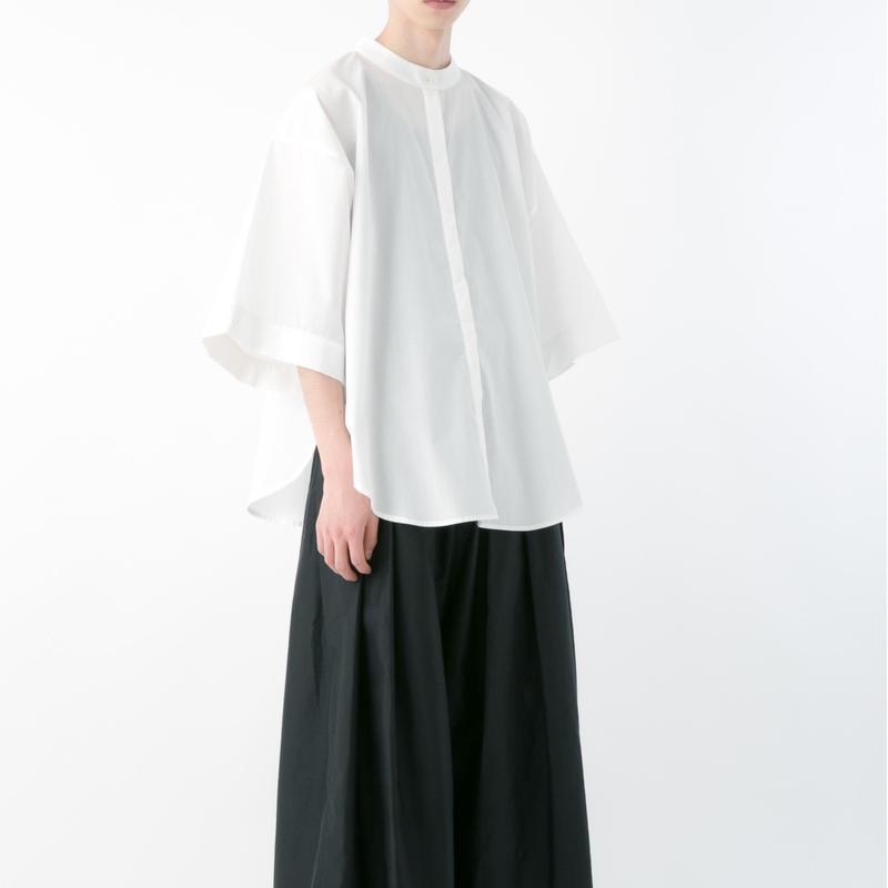 ハイカラシャツ (WHITE , GRAYISH BLUE , BLACK)