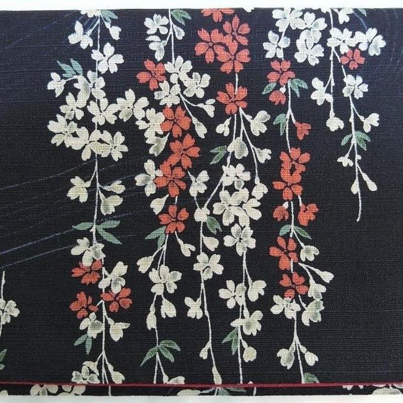 056BL-GWM-B 和柄調 しだれ桜 (御朱印帳約16cmx11.5cm対応)