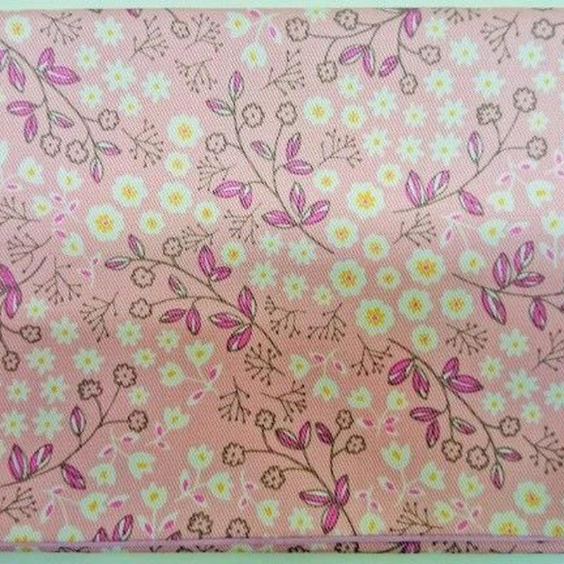 044PI-LWKT-A 御朱印帳袋(御朱印帳約18.5cm×12.5cm) KASUMI柄 ピンク