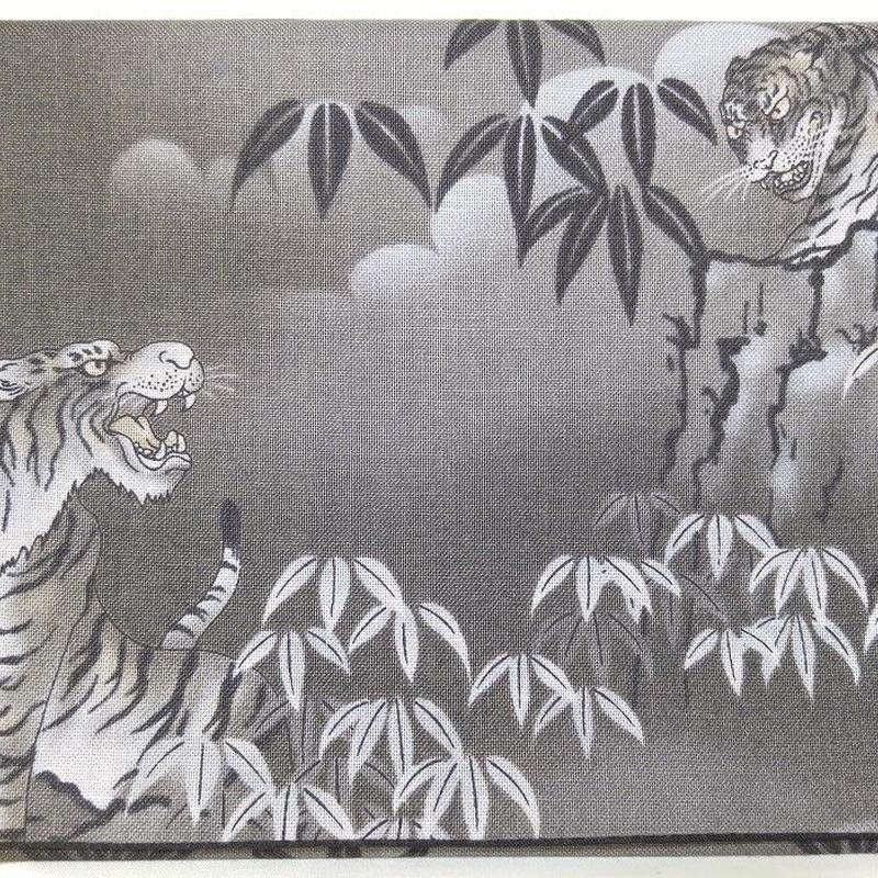 027GL-GWK-C 和調柄 竹と虎 (御朱印帳約16cmx11.5cm対応)