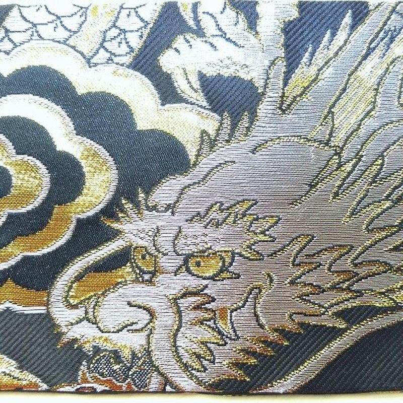 010BG-GWK-A 金襴 銀竜 黒(銀龍) (御朱印帳約16cmx11.5cm対応)