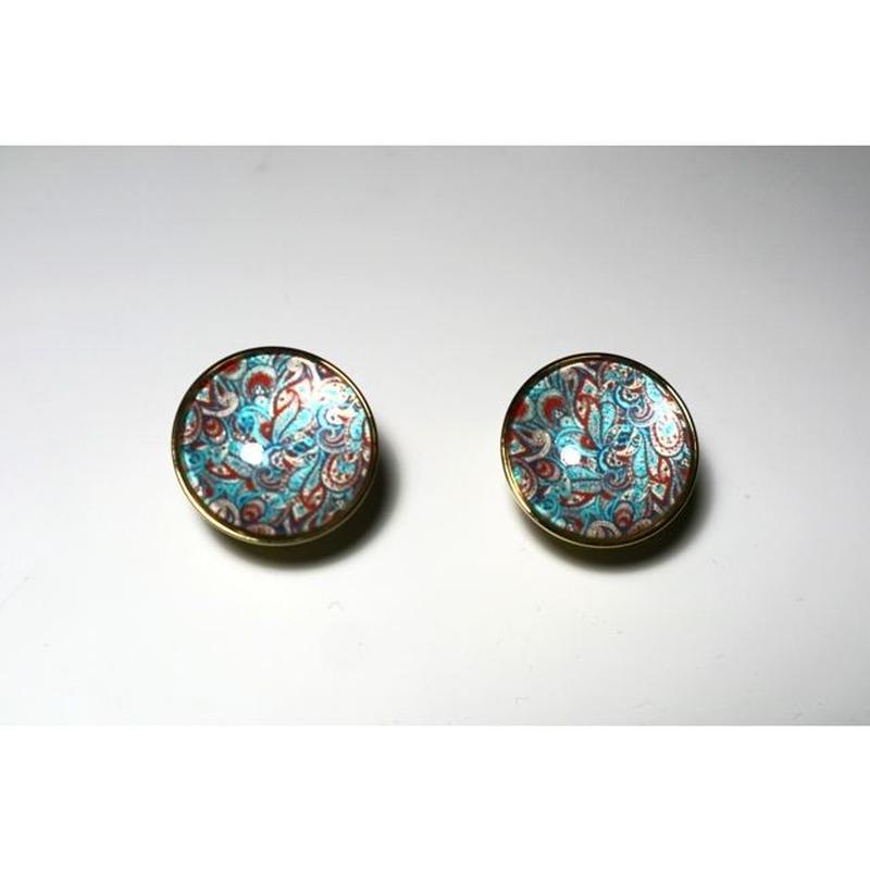 paisley _ turquoise pierce / earring