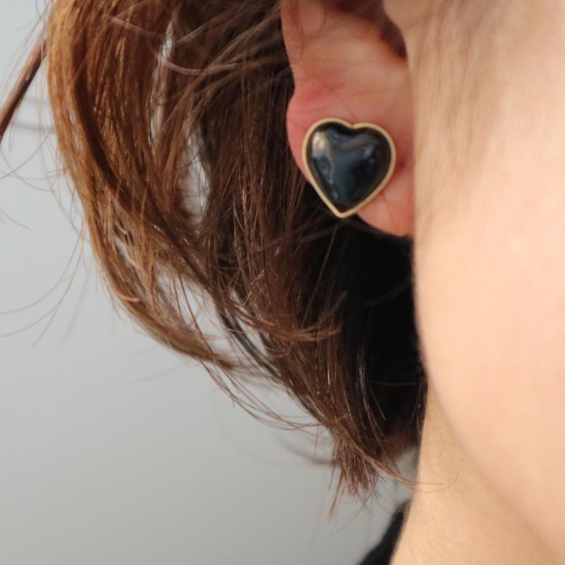 七宝heart earring