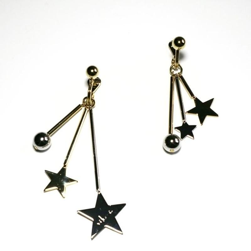 four star pierce / earrings