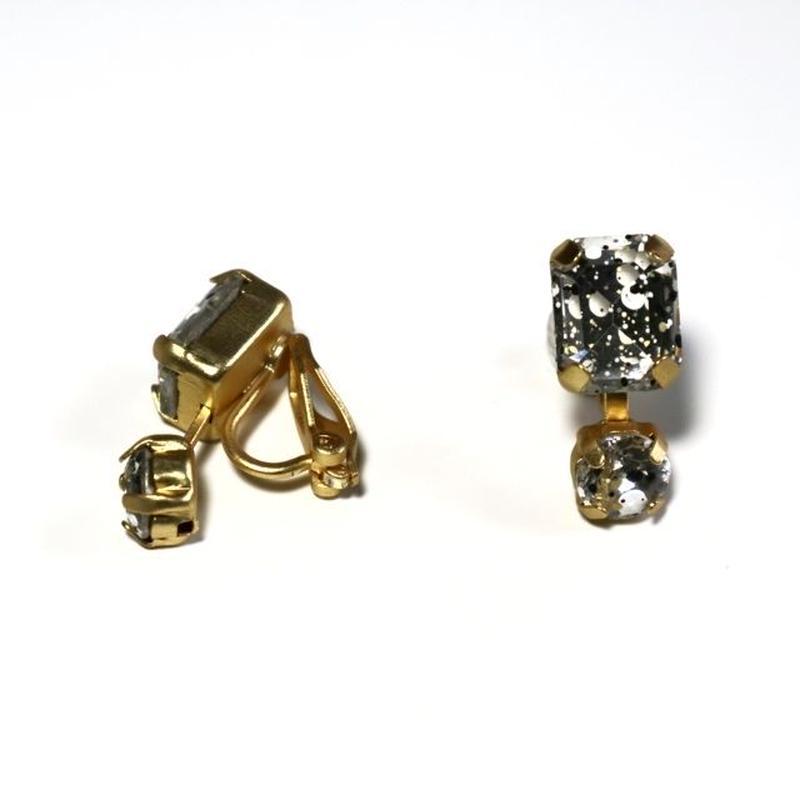 painting _mat gold pierce  / earring