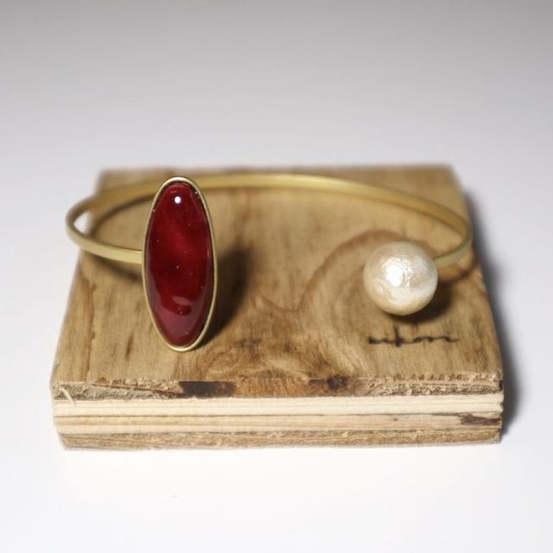 七宝  bracelet _ wine red