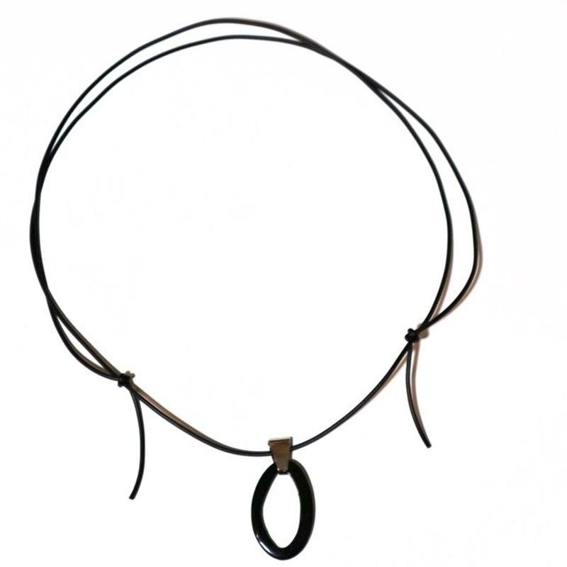 hook _ black necklace