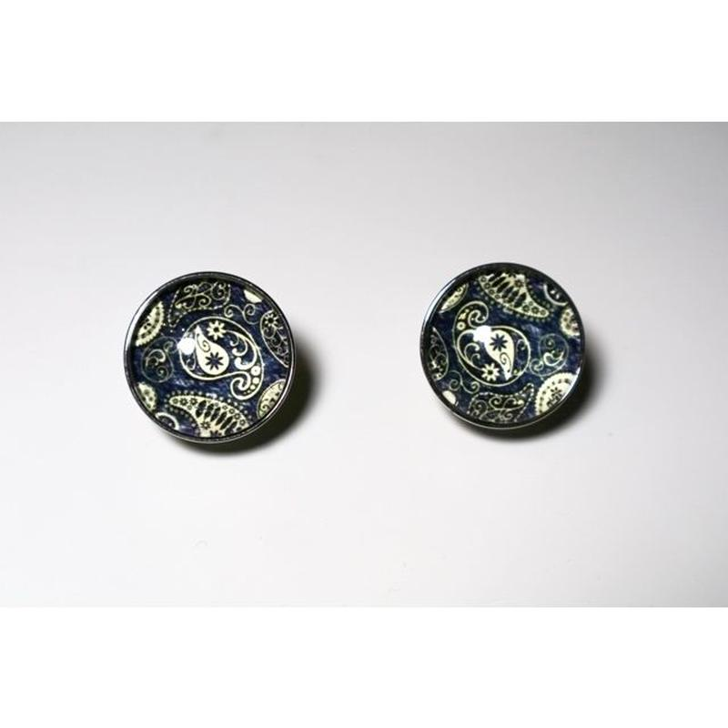paisley _ navy pierce / earring