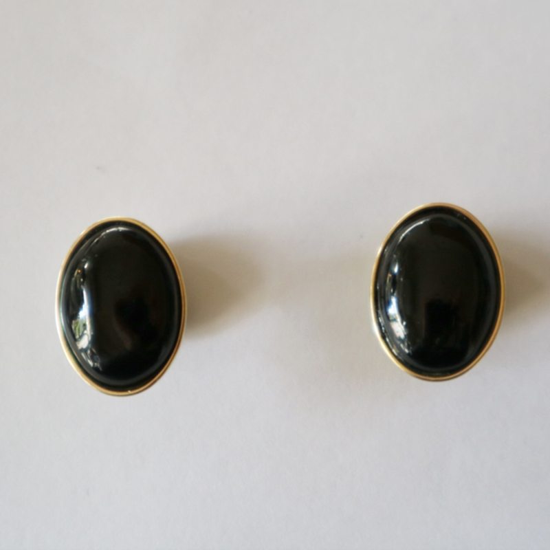 七宝ellipse_  black pierce / earring