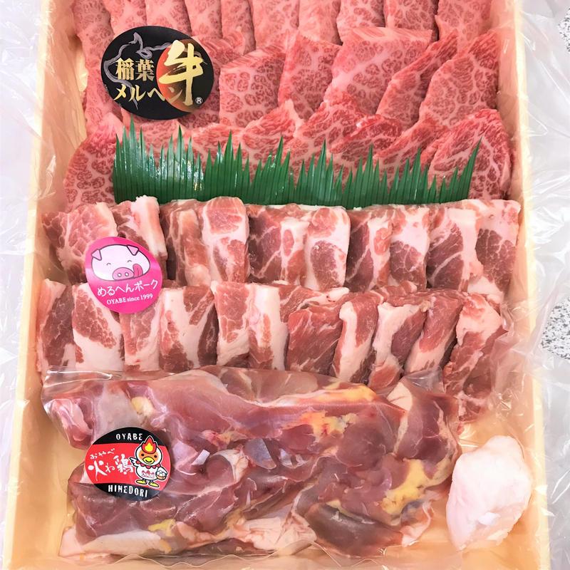 焼肉用3種(牛/豚/親鶏)詰め合わせセット