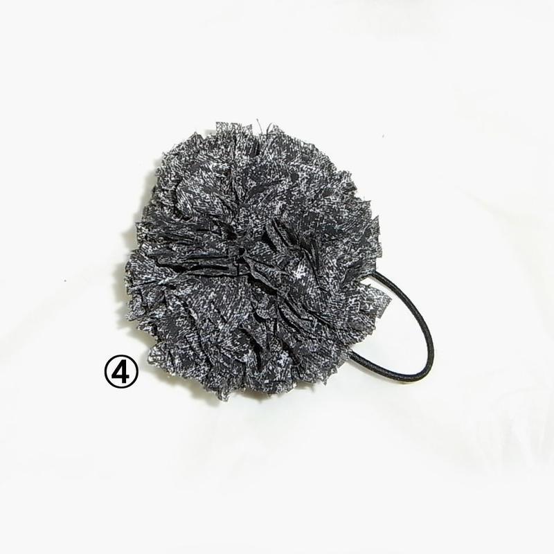 【Hair Bonbon】 テープ素材・ブラック系