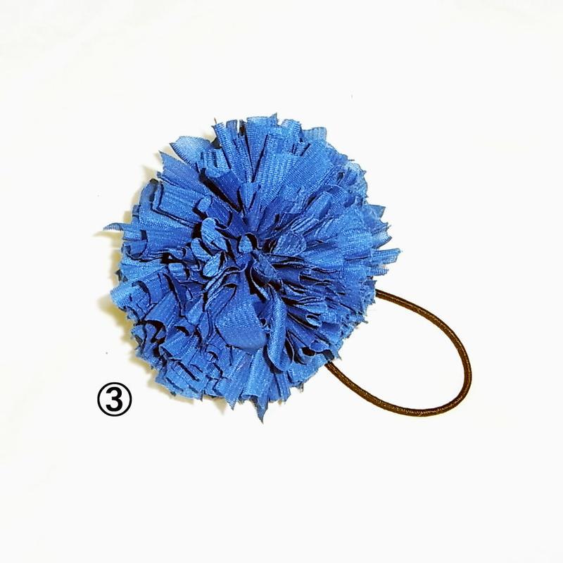 【Hair Bonbon】 ジャージ素材・ブルー系