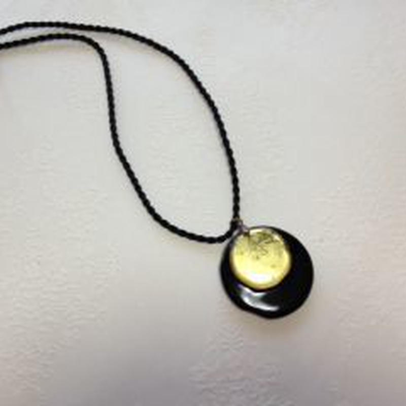 Pendant (Venetian glass - Black & Gold) ヴェネチアガラスのペンダント