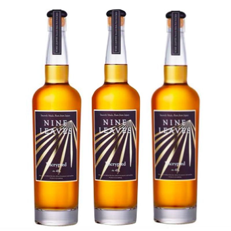 【3本セット/送料無料】国産ラム酒 NINE LEAVES ENCRYPTED Ⅲ(ナインリーヴズ エンクリプテッド3)