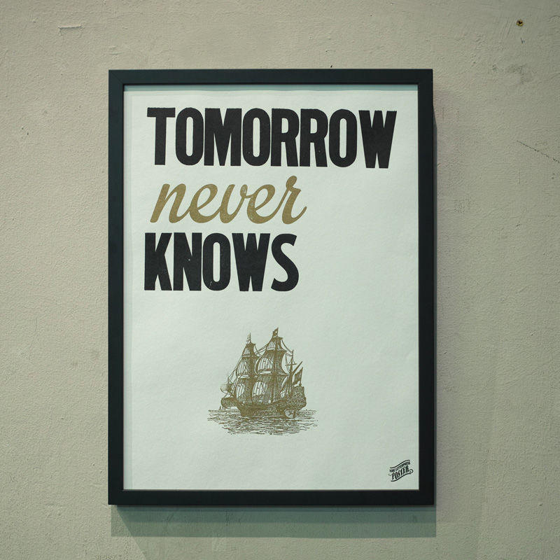 TOMORROW NEVER KNOWS