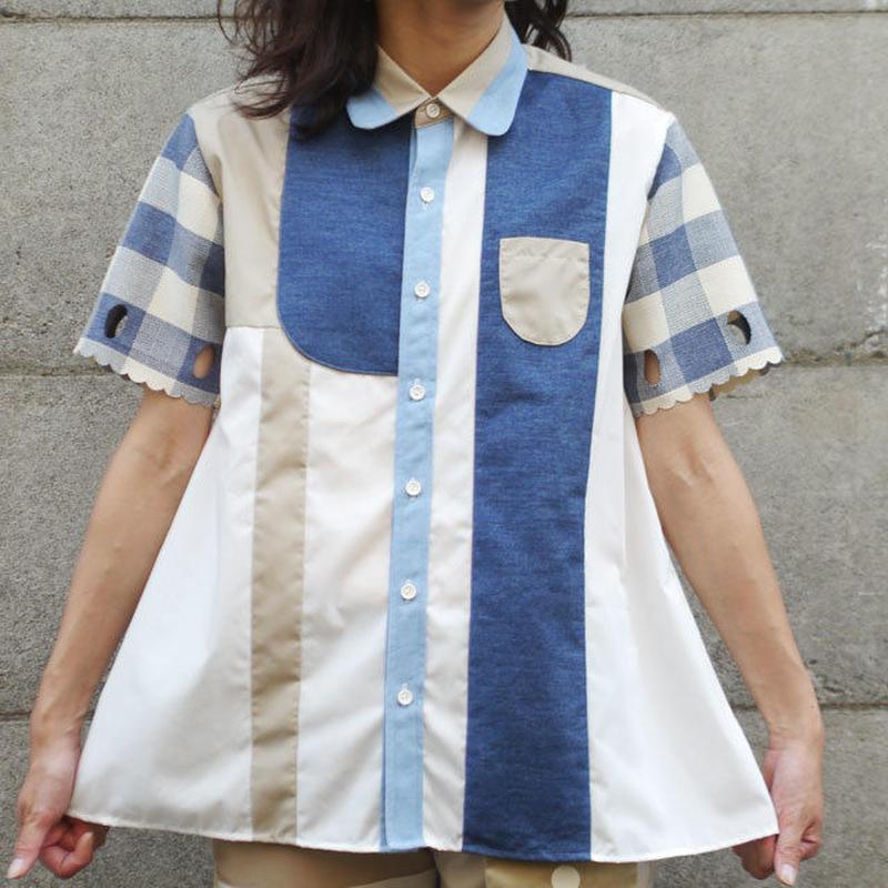 あみどシャツ  ~デニチェック~