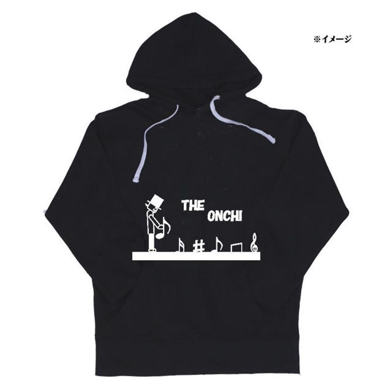 THE 音痴 ぱーかー ブラック