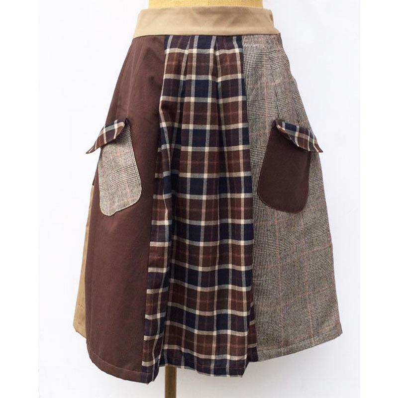 お手伝いスカート~ブラウン×ブラン~