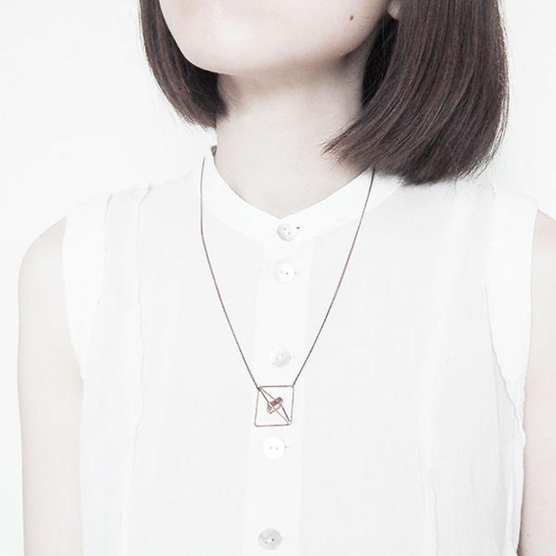 square necklace/antique