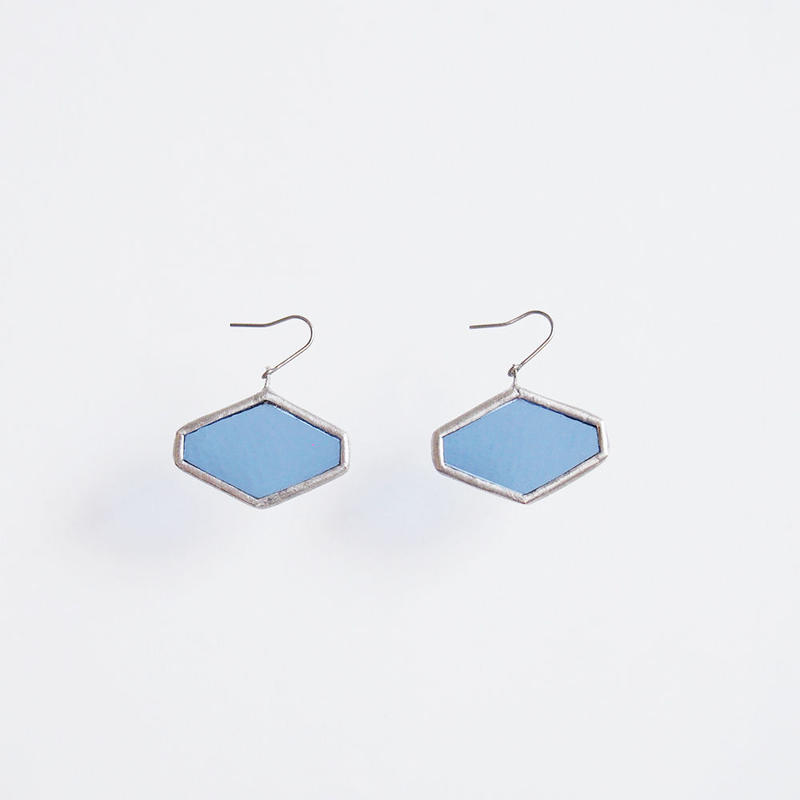hexagon pierce/light blue