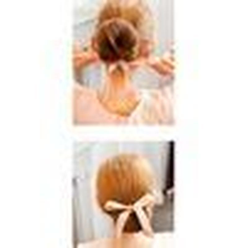 ピンクリボン お団子ヘア ヘアアレンジ 髪 ヘアメイク おだんごヘア