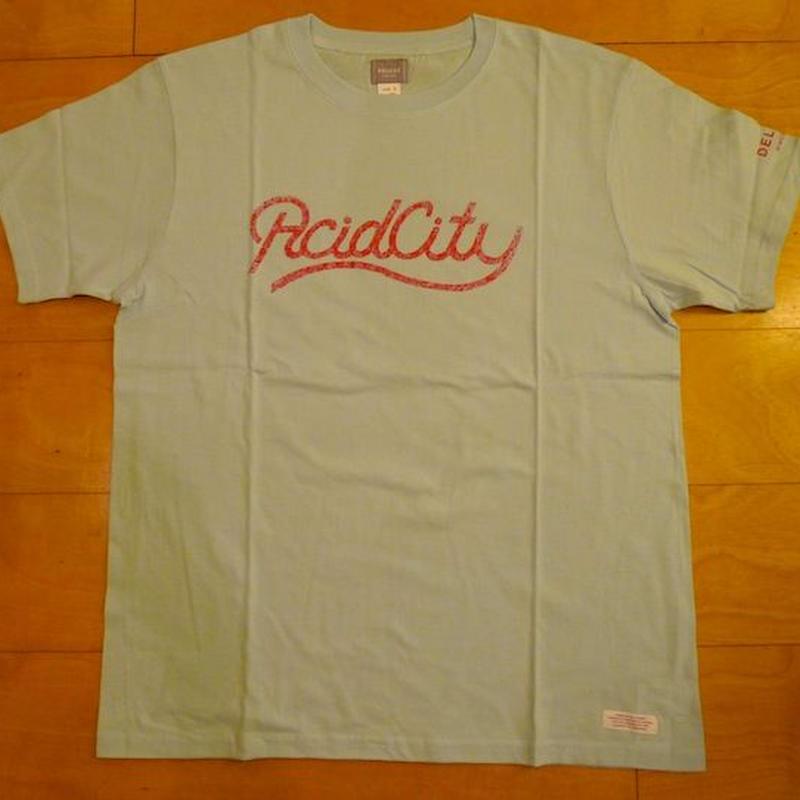 DELUXE x NITELIST ACID CITY Classic Tee Shirts LIGHT BLUE