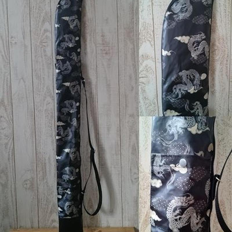 ラミネート竹刀袋 龍×ブラック