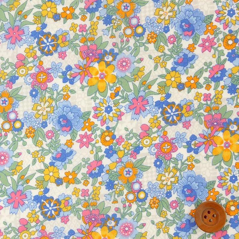 Floral Waltz - Blue & Yellow