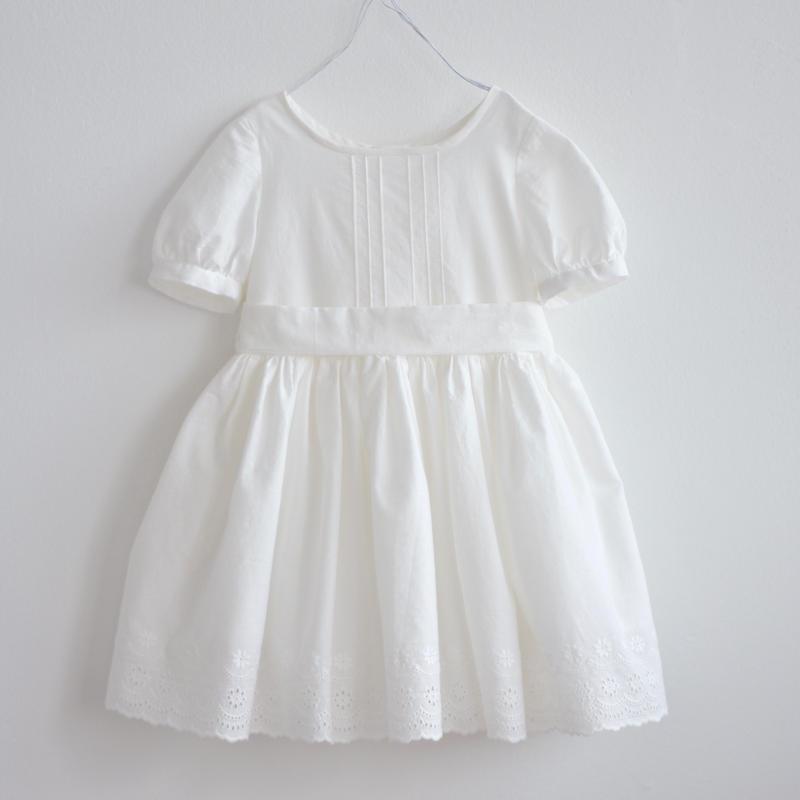 D02   スカラップレースワンピース オフホワイト限定 Size100/110 - Sold out