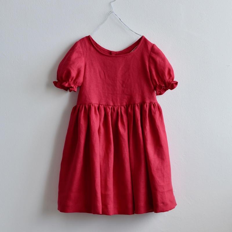 L01   ベーシックリネンワンピース - リネン Size 100/110