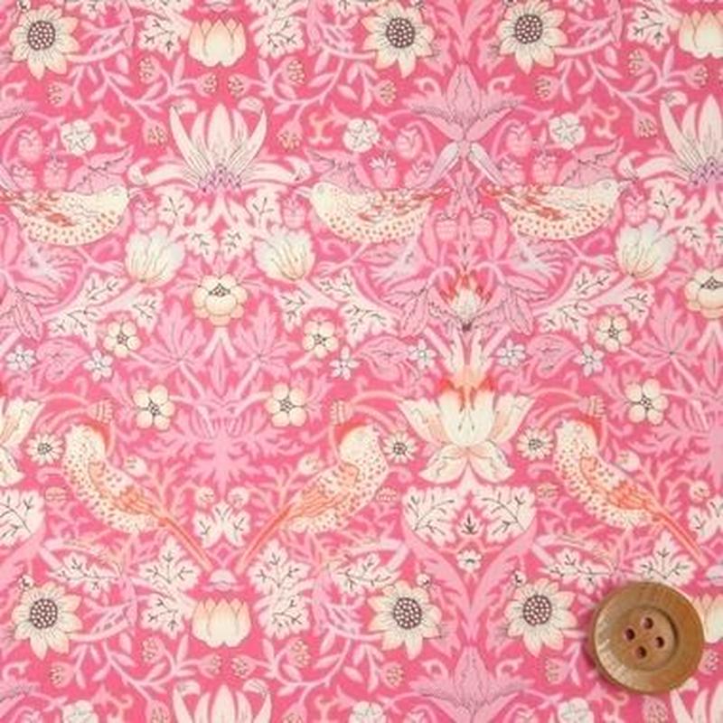 Strawberry Thief - Pink (One Tone Gradation)