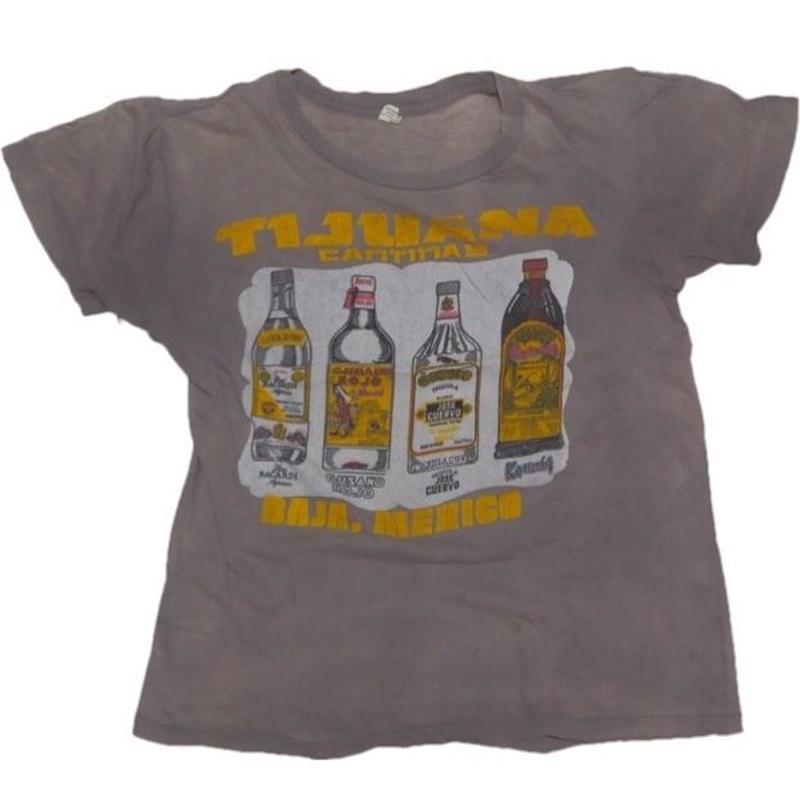 1980's お酒 T-shirts 実寸(M)