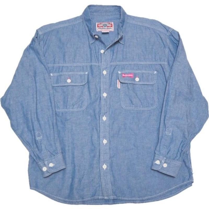 1980's〜 Budweiser  シャンブレーシャツ   実寸(M)