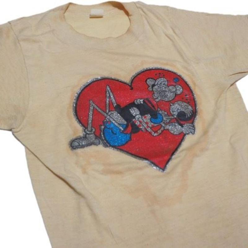 1980's POPEYE & OLIVE sex t-shirts  実寸(S)